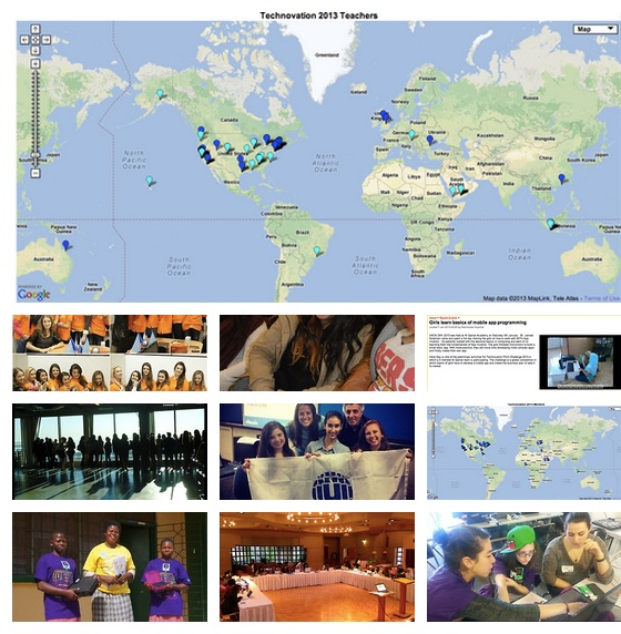 Technovation hackdays all over the world - pic courtesy of Iridescent