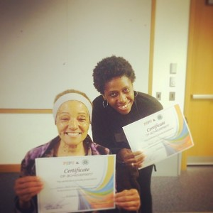 Dawn Mayfield and Paula Ivy-Onadeko, two of the first group of Learning Circles grads.